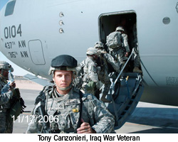 Tony Canzonieri, Iraq War Veteran